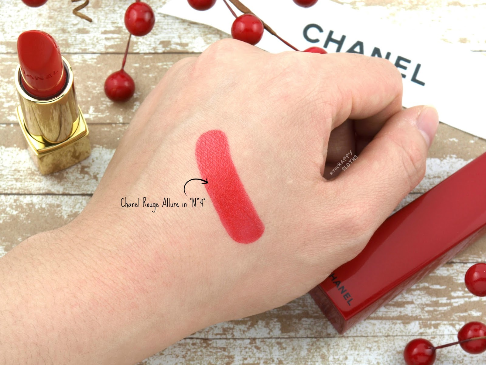 "Chanel Holiday 2017 | Rouge Allure Lipstick in ""N°4"": Review and Swatches"