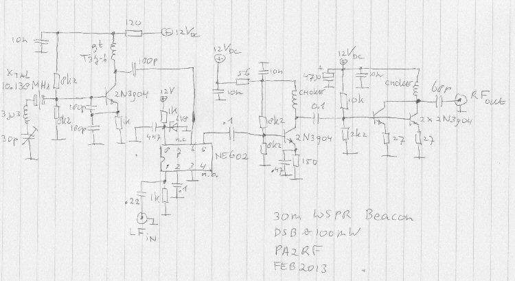 Ron's Radio Corner : Tiny 30m WSPR beacon