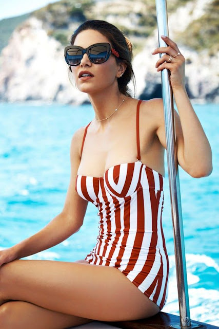retro bathing suit look by Dolce and Gabbana