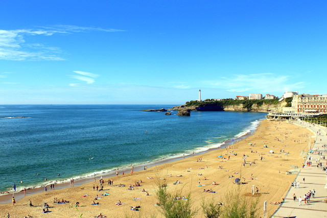 View over Biarritz Grande Plage