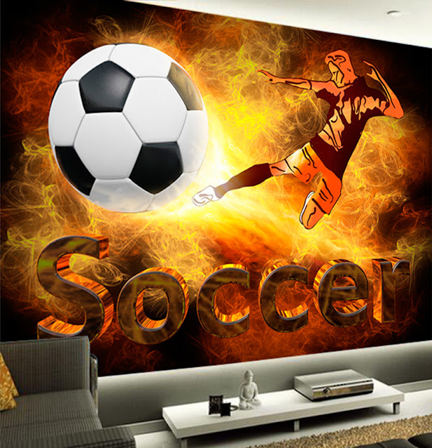Nuoriso Tapetti Jalkapallo Tapetti Poika Huone