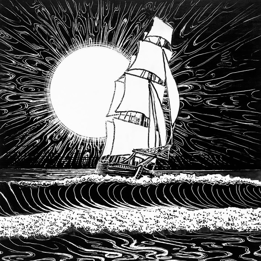 04-Scratchboard-Sailing-Ship-Hannes-Hesselbarth-www-designstack-co