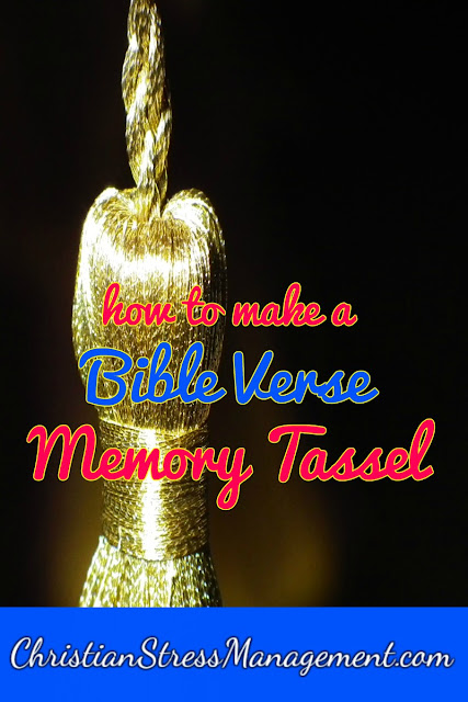 How to Make a Bible Verse Memory Tassel