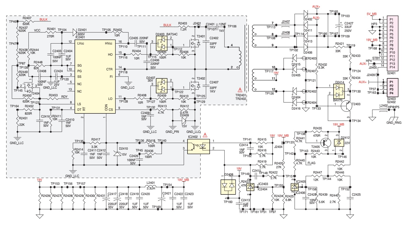 Grundig Lcd Tv Power Supply Smps Vty194 32 Schematic For 22 28 Click On The Pictures To Magnify