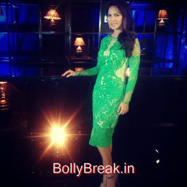 rochelle rao , in dress by pankaj nidhi , jewels by apala , and shoes by steve madden , for bp t 2 2014 , fashion , fashion ,show tv show , green , sheer , gold , late night , crows , body suit , ootd , fashion ,gasm whats hew ore , miss india ,, rochelle rao Latest Hot Pics From Events