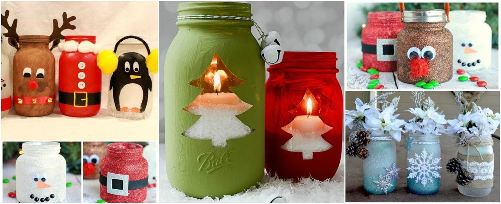 Octubre 2017 cositasconmesh for Frascos decorados para navidad