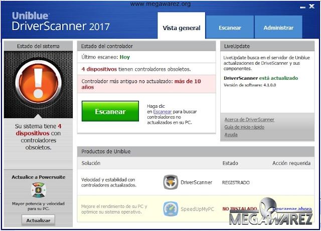 Uniblue DriverScanner 2017 imagenes