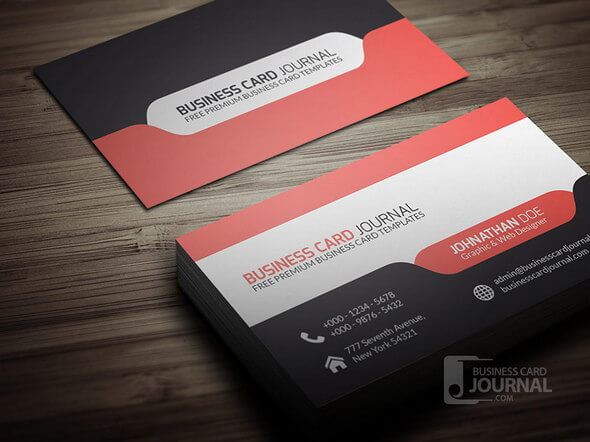 Stylish & Modern Tab Design Business Card Template