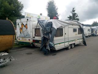 Hochwasser Prüm - Geretteter Wohnwagen