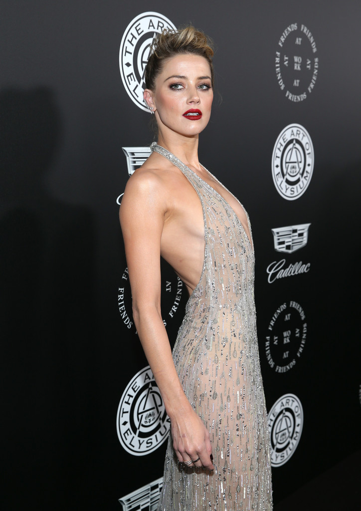 Amber Heard Posing at The Art of Elysium 'HEAVEN'
