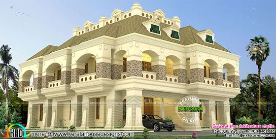 7 bedroom luxury Colonial style home