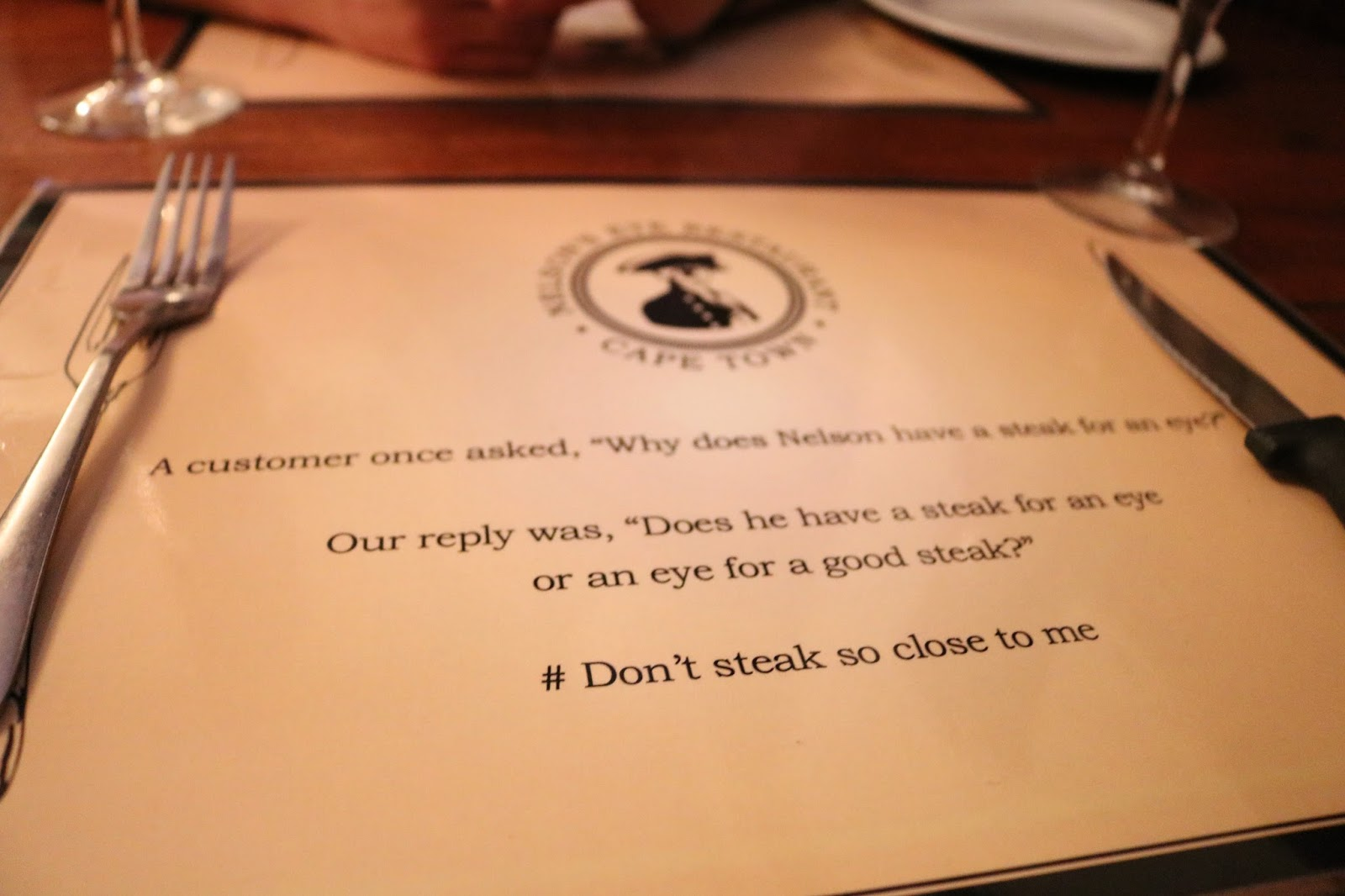 Nelson's Eye Steak Restaurant, Cape Town, South Africa