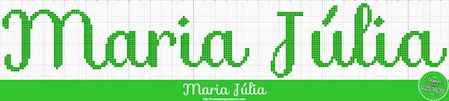 Nome Maria Júlia em Ponto Cruz