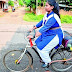 14-year-old Tejaswani from India invented a bicycle that propels on air.