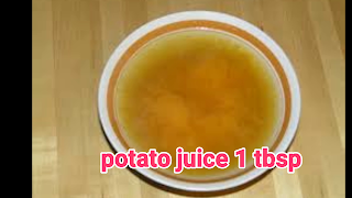image of potato juice