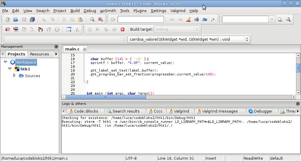 Debian su hardware obsoleto: Esempio GUI con GTK in C