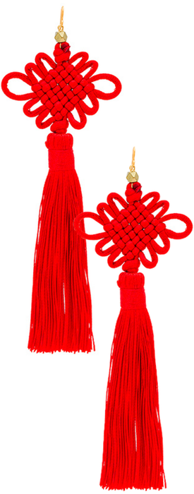 VANESSA MOONEY THE CHINESE GOOD LUCK TASSEL EARRINGS