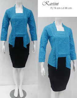 Baju Blouse Batik Kartini Biru