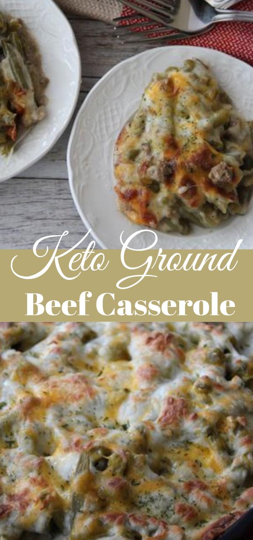 KETO GROUND BEEF CASSEROLE #dietketo #healthy