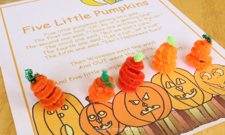 Five Little Pumpkins Math Activity