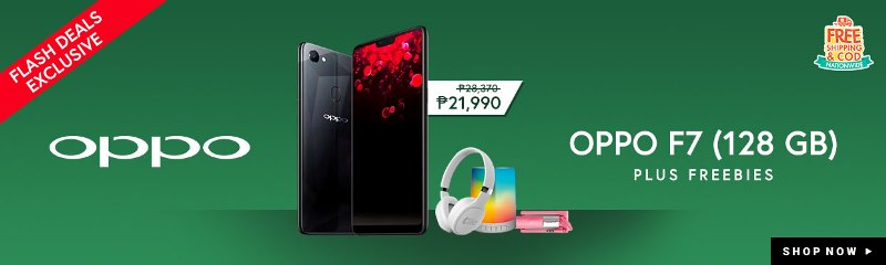 OPPO F7 128GB Diamond Black Exclusively Online on Shopee