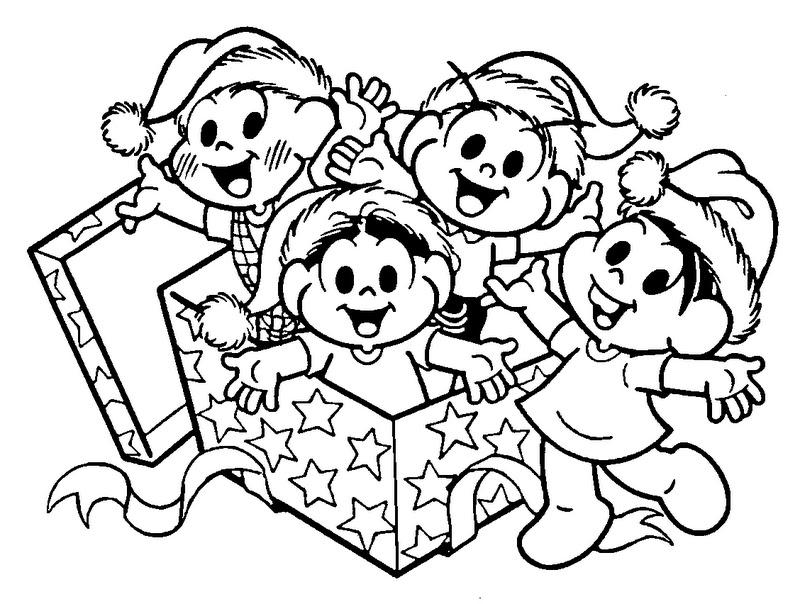 Desenho Natal A Turma Da Mônica Para Pintar
