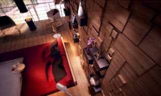 Dormitorio paneles de madera