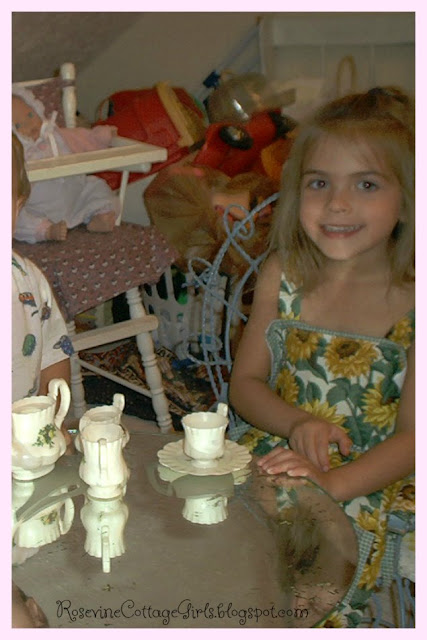 A Mary Heart in A Martha World | Picture of children having a tea party with toys around them