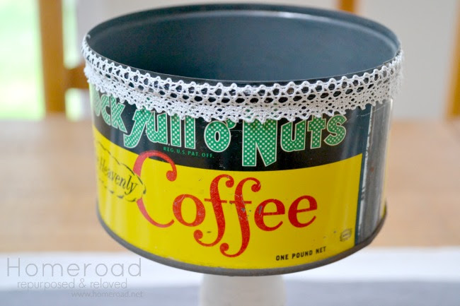 Repurpose a Vintage Coffee Can