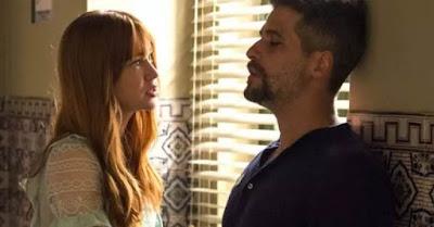 Luz e Gabriel em O Sétimo Guardião (Foto: Reprodução / TV Globo)