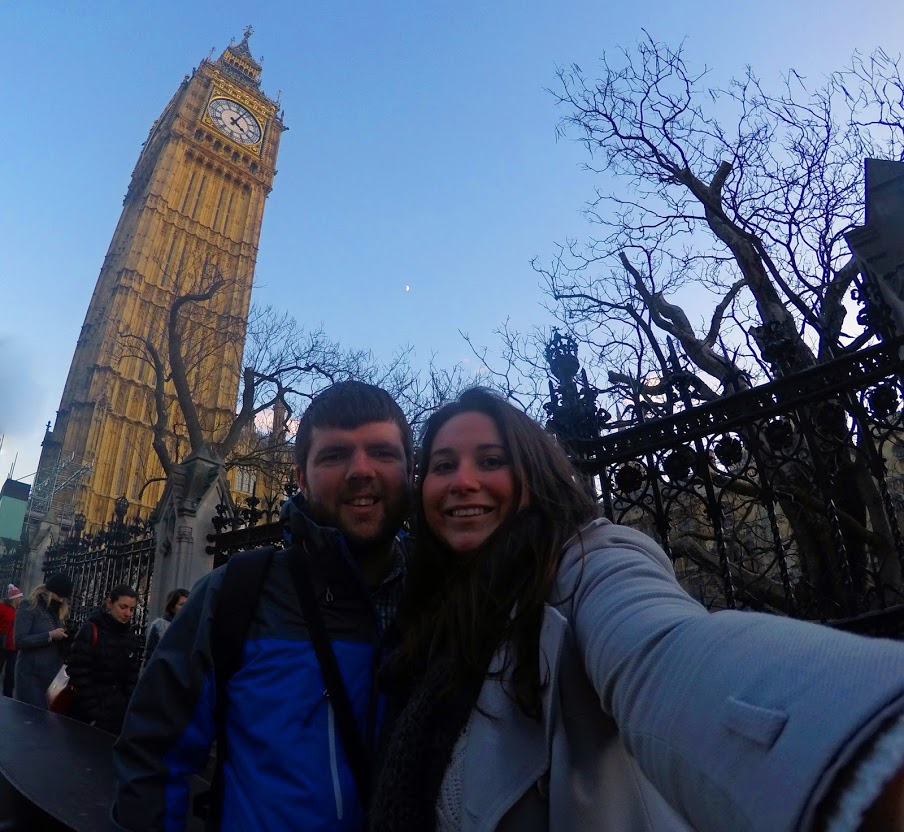 Couple in front of Big Ben London