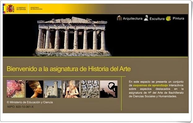 """""""Historia del Arte"""" (Aplicación interactiva de Bachillerato)"""