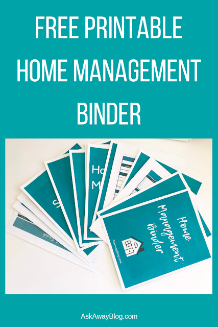 free printable home management binder
