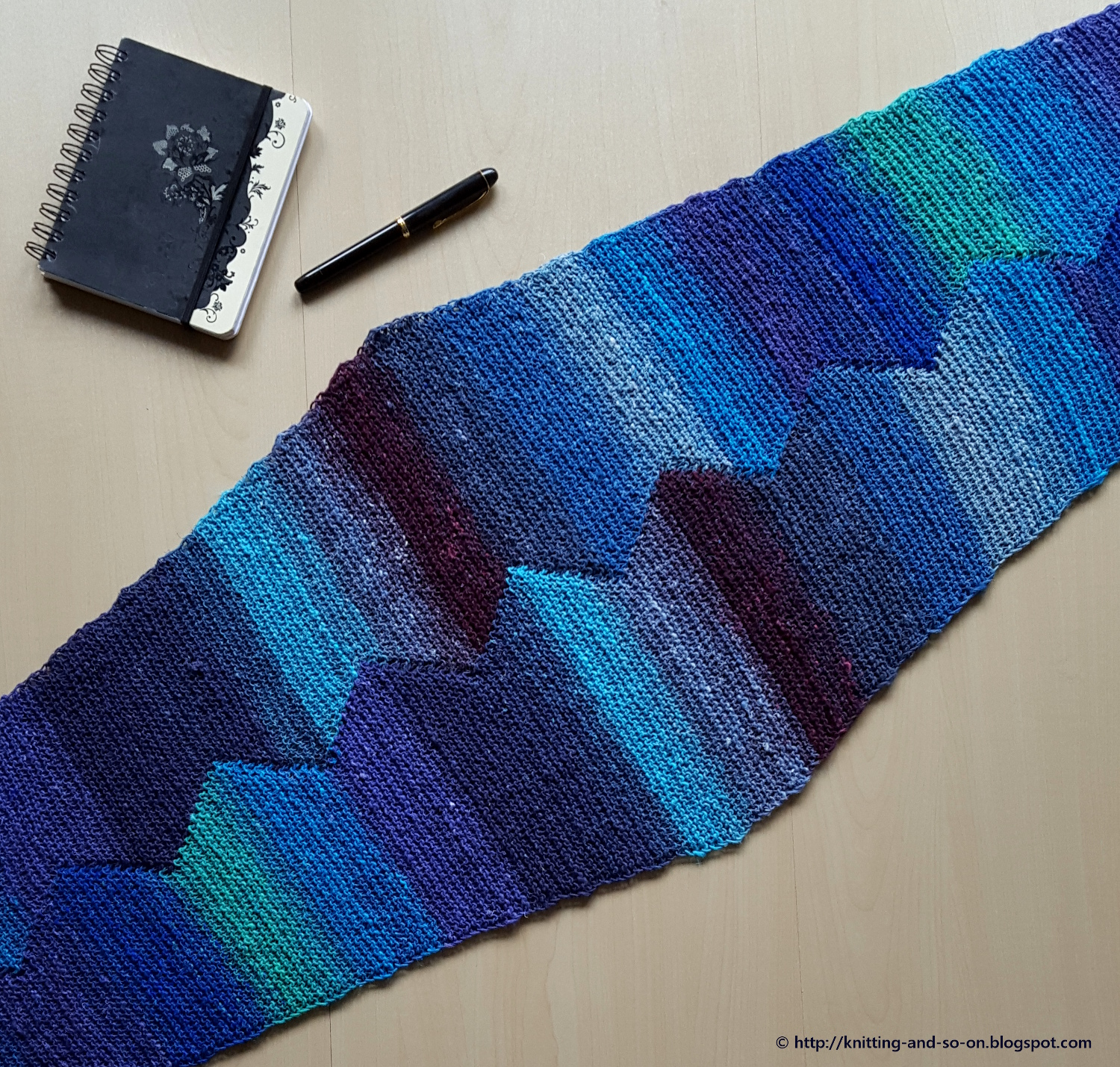 Knitting Pattern Marker : Knitting and so on: Cordillera Scarf