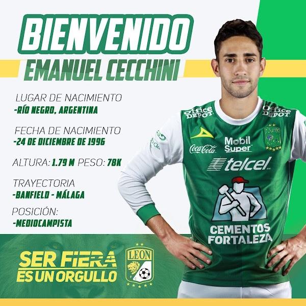 Oficial: Málaga, Cecchini cedido a Club León