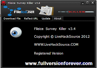download free Fileice Survey remover 3.4 registered version.