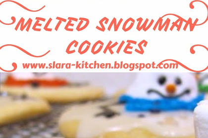 MELTED SNOWMAN COOKIES #christmas #cookies