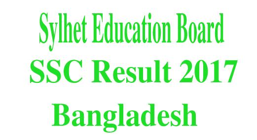 Sylhet Board SSC Result 2017,SSC Result 2017
