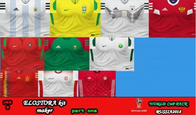 PES6 World Cup Nations 2018 New Kitpack By El-Ostora