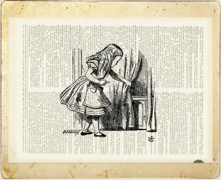08-Alice-in-Wonderland-Jean-Cody-Vintage-Dictionary-Page-Art-Prints-www-designstack-co