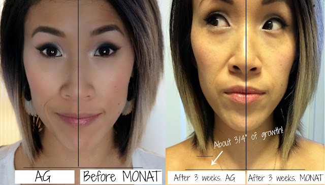 MONAT growth claims test are true