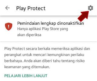 Tap pengaturan google play protect