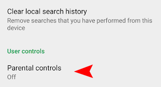 Google Play Parental Controls