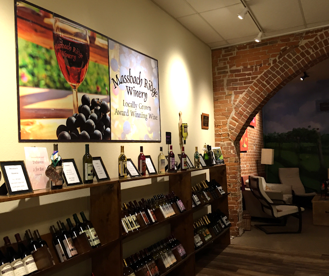 Plenty of space to peruse and even sit at Massbach Ridge Winery Tasting Room in Galena, Illinois