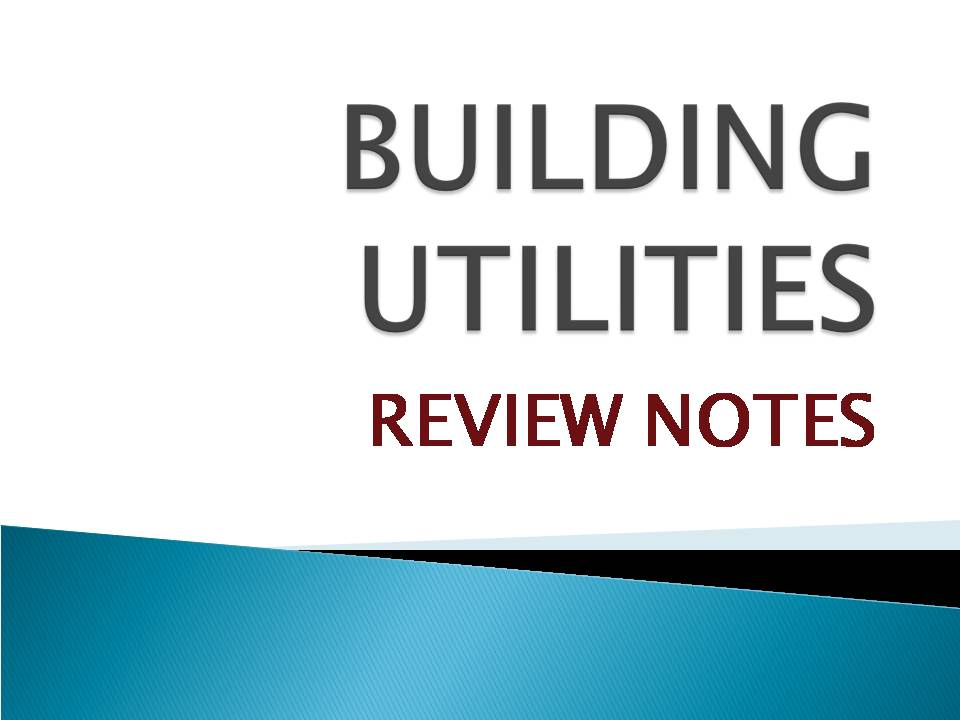 Review Notes For Utilities Part 4 Orbis Ccd Review
