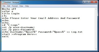 How To Create Keylogger Using Notepad