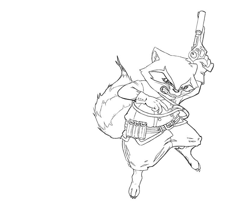 rocket raccoon coloring pages | Rocket Raccoon Angry | Lowland Seed