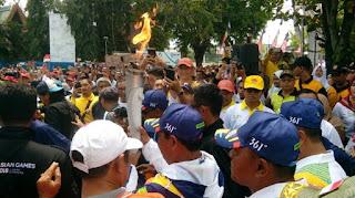 Obor Asian Games Sampai Banjarmasin