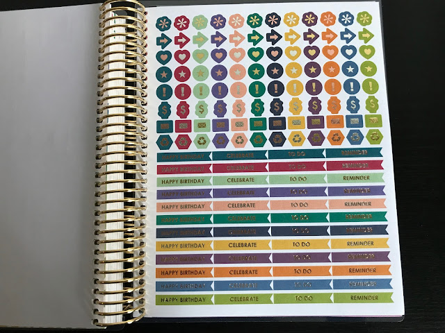 Stickers in Erin Condren Planner