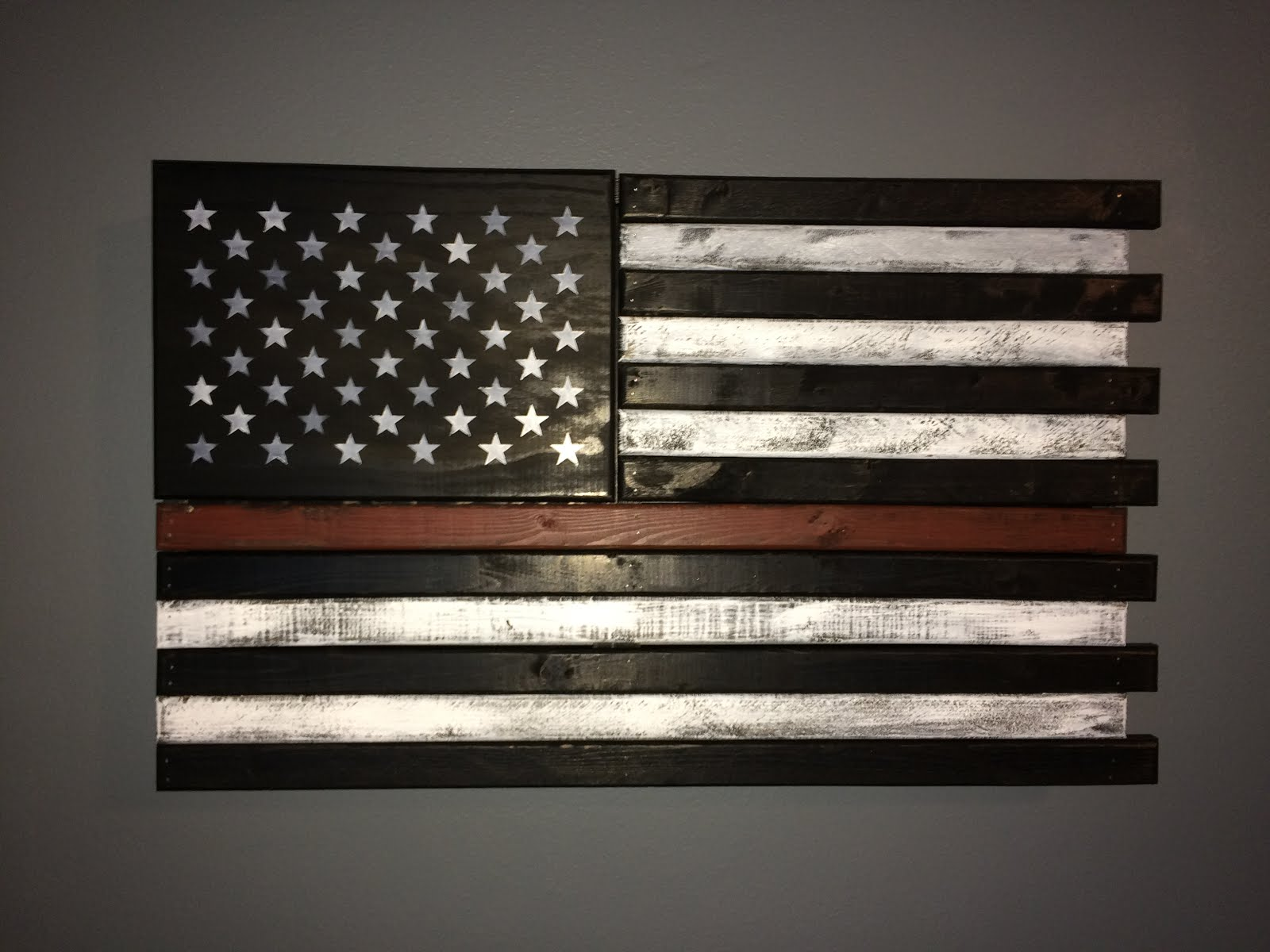 flag stripe american middle hidden orange cabinet diy fire police gentleman southern subdued fighters supports decorative single
